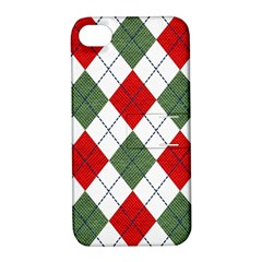 Red Green White Argyle Navy Apple Iphone 4/4s Hardshell Case With Stand by Jojostore