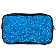Shattered Blue Glass Toiletries Bags by Jojostore