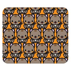 Sitcat Orange Brown Double Sided Flano Blanket (small)  by Jojostore