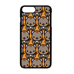 Sitcat Orange Brown Apple Iphone 7 Plus Seamless Case (black) by Jojostore