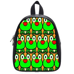Sitfrog Orange Face Green Frog Copy School Bags (small)  by Jojostore
