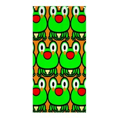 Sitfrog Orange Face Green Frog Copy Shower Curtain 36  X 72  (stall)  by Jojostore