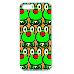 Sitfrog Orange Face Green Frog Copy Apple Seamless Iphone 5 Case (color) by Jojostore