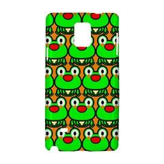 Sitfrog Orange Green Frog Samsung Galaxy Note 4 Hardshell Case by Jojostore