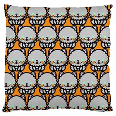 Sitpersian Cat Orange Large Flano Cushion Case (one Side) by Jojostore