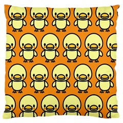 Small Duck Yellow Large Flano Cushion Case (one Side) by Jojostore