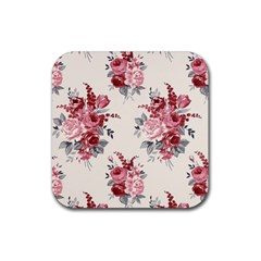Rose Beauty Flora Rubber Square Coaster (4 Pack)  by Jojostore