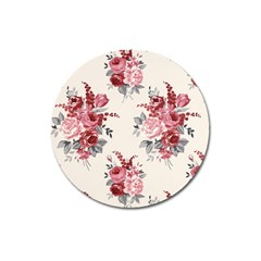 Rose Beauty Flora Magnet 3  (round) by Jojostore