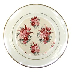 Rose Beauty Flora Porcelain Plates by Jojostore