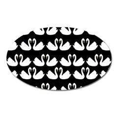 Swan Animals Oval Magnet by Jojostore
