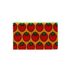Strawberry Orange Cosmetic Bag (xs) by Jojostore
