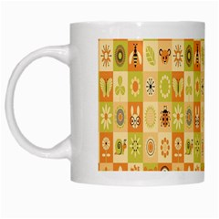 Texture Background Stripes Color Animals White Mugs by Jojostore
