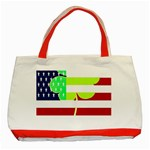 USA Ireland American Flag Shamrock Irish Funny St Patrick Country Flag  Classic Tote Bag (Red) Front