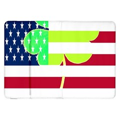 Usa Ireland American Flag Shamrock Irish Funny St Patrick Country Flag  Samsung Galaxy Tab 8 9  P7300 Flip Case by yoursparklingshop