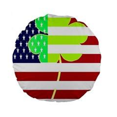 Usa Ireland American Flag Shamrock Irish Funny St Patrick Country Flag  Standard 15  Premium Flano Round Cushions by yoursparklingshop