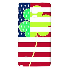 Usa Ireland American Flag Shamrock Irish Funny St Patrick Country Flag  Galaxy Note 4 Back Case by yoursparklingshop