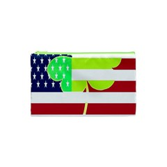 Usa Ireland American Flag Shamrock Irish Funny St Patrick Country Flag  Cosmetic Bag (xs) by yoursparklingshop