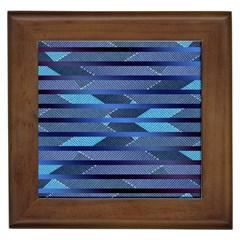 Abric Texture Alternate Direction Framed Tiles by Jojostore