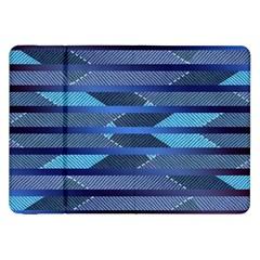 Abric Texture Alternate Direction Samsung Galaxy Tab 8 9  P7300 Flip Case by Jojostore