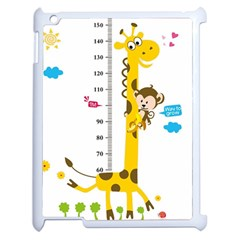 Cute Giraffe Monkey Apple Ipad 2 Case (white)