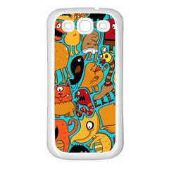 Creature Cluster Samsung Galaxy S3 Back Case (white) by Jojostore