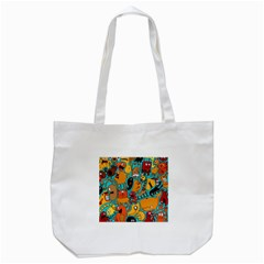 Creature Cluster Tote Bag (white) by Jojostore
