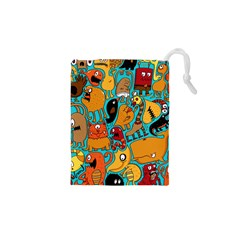 Creature Cluster Drawstring Pouches (xs)  by Jojostore
