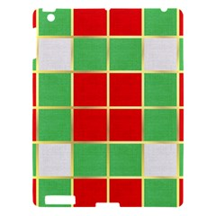 Christmas Fabric Textile Red Green Apple Ipad 3/4 Hardshell Case by Jojostore