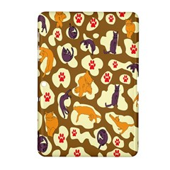Face Cat Cute Purple Yellow Samsung Galaxy Tab 2 (10 1 ) P5100 Hardshell Case  by Jojostore
