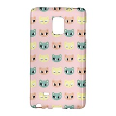 Face Cute Cat Galaxy Note Edge by Jojostore
