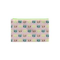Face Cute Cat Cosmetic Bag (xs) by Jojostore