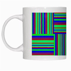 Fabric Pattern Design Cloth Stripe White Mugs by Jojostore