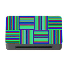 Fabric Pattern Design Cloth Stripe Memory Card Reader With Cf by Jojostore
