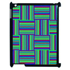 Fabric Pattern Design Cloth Stripe Apple Ipad 2 Case (black) by Jojostore