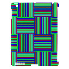 Fabric Pattern Design Cloth Stripe Apple Ipad 3/4 Hardshell Case (compatible With Smart Cover) by Jojostore