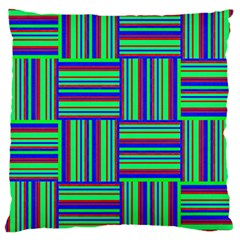 Fabric Pattern Design Cloth Stripe Large Cushion Case (two Sides) by Jojostore