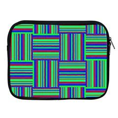 Fabric Pattern Design Cloth Stripe Apple Ipad 2/3/4 Zipper Cases by Jojostore