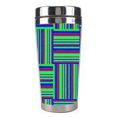 Fabric Pattern Design Cloth Stripe Stainless Steel Travel Tumblers