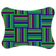 Fabric Pattern Design Cloth Stripe Jigsaw Puzzle Photo Stand (bow) by Jojostore