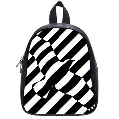 Flaying Bird Black White School Bags (small)  by Jojostore