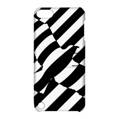 Flaying Bird Black White Apple Ipod Touch 5 Hardshell Case With Stand by Jojostore