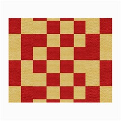 Fabric Geometric Red Gold Block Small Glasses Cloth by Jojostore