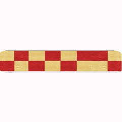 Fabric Geometric Red Gold Block Small Bar Mats by Jojostore