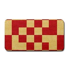 Fabric Geometric Red Gold Block Medium Bar Mats by Jojostore