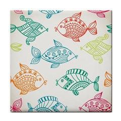 Fish Tile Coasters by Jojostore