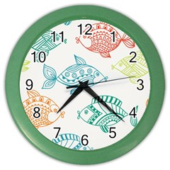 Fish Color Wall Clocks by Jojostore