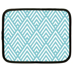 Geometric Blue Netbook Case (xl)  by Jojostore