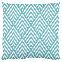 Geometric Blue Large Cushion Case (two Sides) by Jojostore