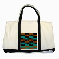 Fabric Textile Texture Gold Aqua Two Tone Tote Bag by Jojostore