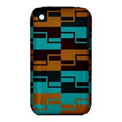 Fabric Textile Texture Gold Aqua Iphone 3s/3gs by Jojostore
